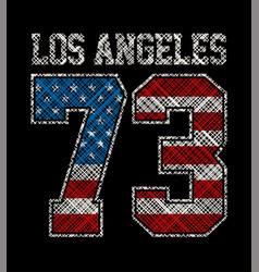 los angeles number 73 vector image