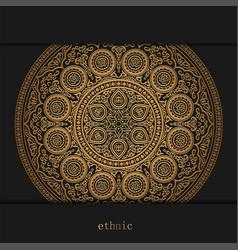 luxury ornamental golden mandala design vector image