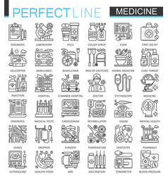 Medical outline concept symbols perfect thin line vector