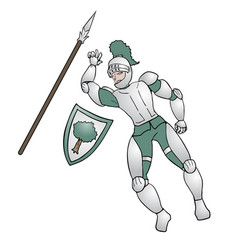 medieval warrior vector image