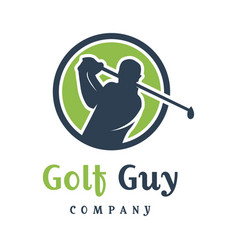 mens golf sports logo design vector image