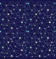 navy blue gradient dots network seamless pattern vector image