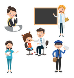 Of occupations vector