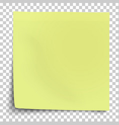 office yellow-green paper sticker with bent lower vector image