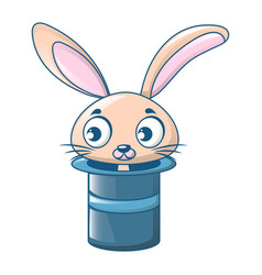 rabbit in top hat icon cartoon style vector image