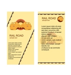 Rail Road Banners vector