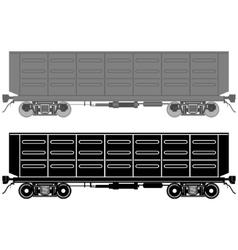 Railway wagon vector