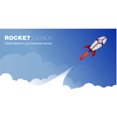 rocket ship in a cartoon style vector image