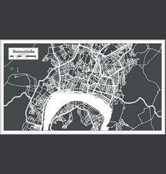 Samarinda indonesia city map in retro style vector