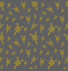 Seamless pattern with hand drawn yuan sign vector