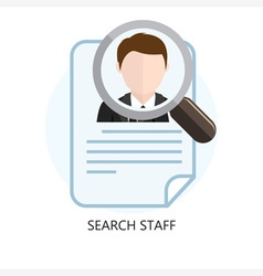 Search Staff Icon Concept vector