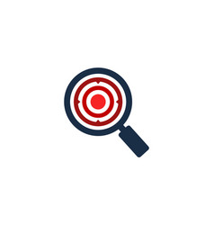 search target logo icon design vector image