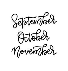 season life style lettering names autumn vector image