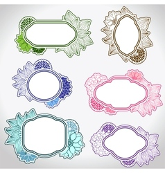 Set of different vintage frames vector image
