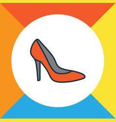 shoe colorful outline symbol premium quality vector image