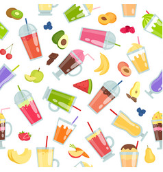 smoothie seamless pattern summer vector image