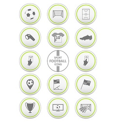 Soccer Football and sport icons set vector image