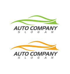 speed auto car logo template icon vector image