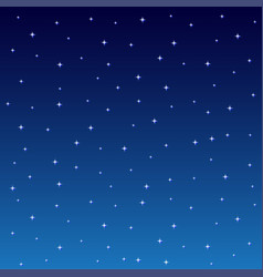 starry night sky square background vector image