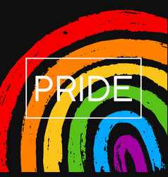 template poster with hand draw lgbt pride vector image
