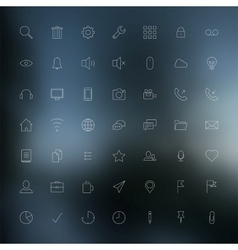 Thin icons vector image