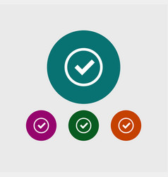 Tick icon simple vector