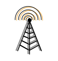 Tower antenna mast sign communication transmitter vector