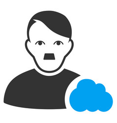 User cloud flat icon vector