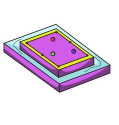 waterproof pool table pool table variation vector image