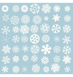 Winter Snowflakes Set vector