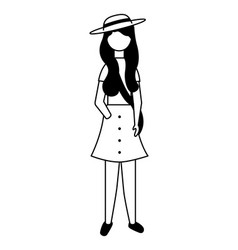 woman character female standing figure vector image