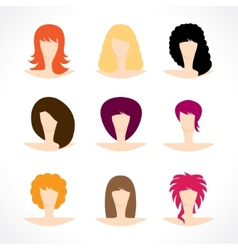 womens hairstyles vector image