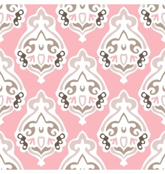 damask seamless design vector image vector image