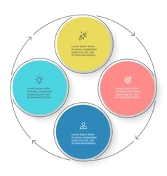 Four steps infographics with arrows design vector image vector image