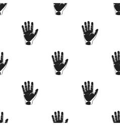 Hand icon in black style isolated on white vector image