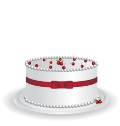 white cake vector image