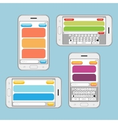 Smartphone chatting sms messages speech bubbles vector