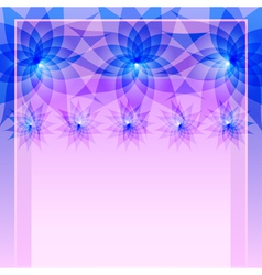 Abstract blue background with flowers vector image