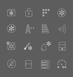 freezing signs and freezer symbols refrigerator vector image vector image