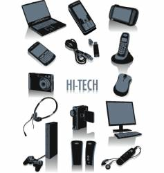 high tech silhouettes vector image vector image
