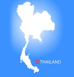 Map of Kingdom of Thailand vector image