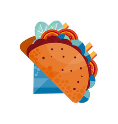 tacos traditional mexican food vector image