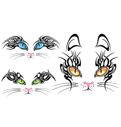 Cats eyes collection vector image vector image