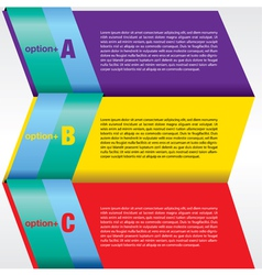 Colorful abstract banner EPS 10 vector image vector image