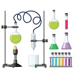 different science containers and equipments vector image