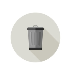 Dumpster icon vector image