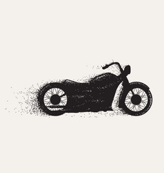 motorcycle ride motion vector image