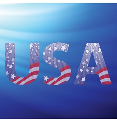 USA capital letters vector image vector image