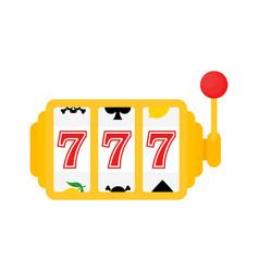 777 jackpot icon casino gambling machine slot vector