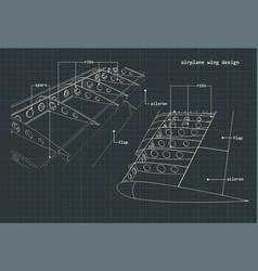 airplane wings drawings vector image